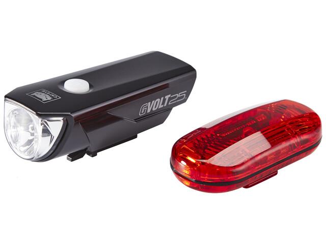 CatEye GVOLT25/OMNI3G Fietsverlichting sets EL360GRC/LD135G zwart